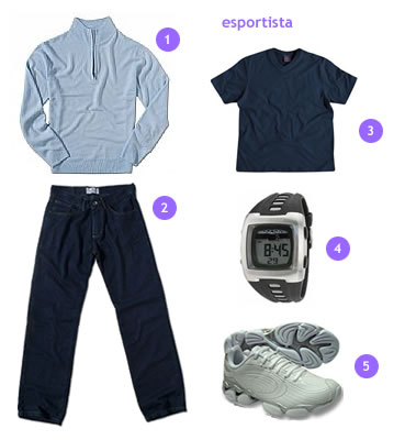 calca-jeans-camisaria-colombo-tenis-olympikus-relogio-mormaii-malha-cashmere-camiseta-hering-esportista